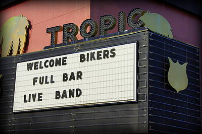 Tropic Theatre Art Print by Laurie Perry