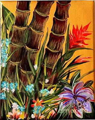 Painting - Tropical Bamboo by Valarie Pacheco
