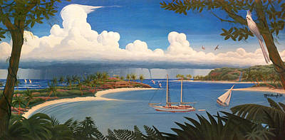 Painting - Tropical Bay Playground by Duane McCullough
