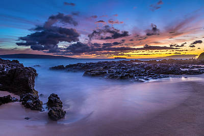 Photograph - Tropical Beach At Dusk by Pierre Leclerc Photography