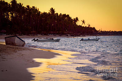 Surf Photograph - Tropical Beach At Sunset by Elena Elisseeva