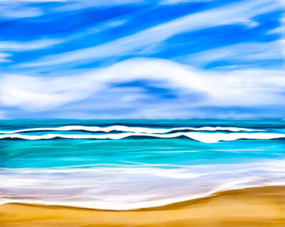 Digital Art - Tropical Beach Dreams - Caribbean Sea by Mark E Tisdale