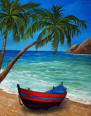 Painting - Tropical Beach by Katia Aho
