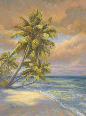 Tropical Beach Art Print by Lucie Bilodeau