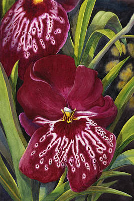 Tropical Plant Painting - Tropical Beauty 1 by Karen Wright