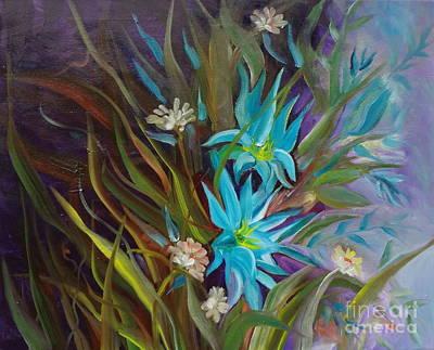 Tropical Blue Art Print by Jenny Lee