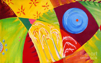 Modernism Painting - Tropical Bound by Raluca Nedelcu