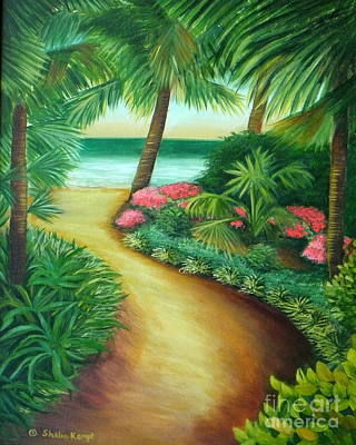 Art Print featuring the painting Tropical Breezes by Shelia Kempf