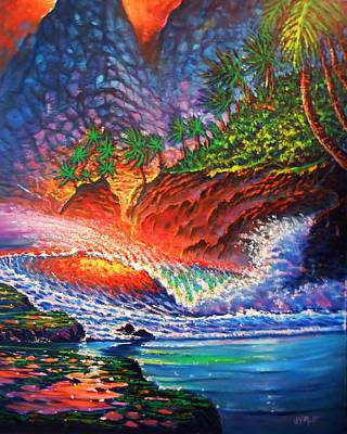 Painting - Tropical Color Mosaic by Joseph   Ruff