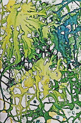 Art Print featuring the painting Tropical Confusion by Joan Hartenstein
