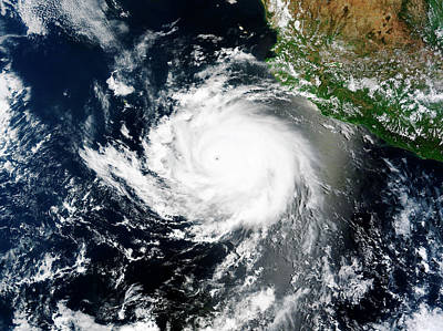 No. 12 Photograph - Tropical Cyclone Cristina by Nasa Image Courtesy Of The Lance/eosdis Modis Rapid Response Team At Nasa Gsfc.
