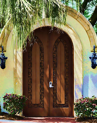 Photograph - Tropical Door by Sandy Poore