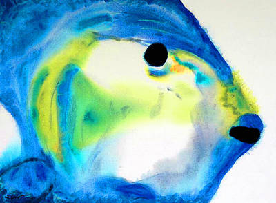 Parrot Art Painting - Tropical Fish 3 - Abstract Art By Sharon Cummings by Sharon Cummings