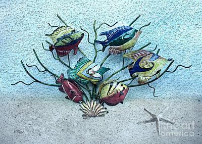 Metal Fish Art Photograph - Tropical Fish 3 by Betty LaRue