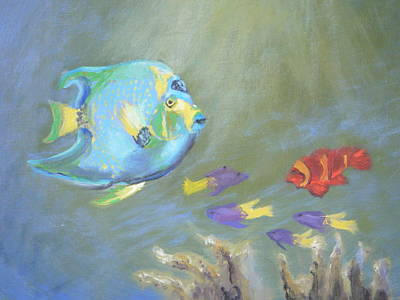 Tropical Fish Art Print by Patricia Kimsey Bollinger