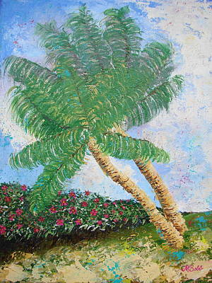 Art Print featuring the painting Tropical Flair by Margaret Bobb