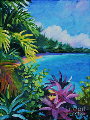Caribbean Sea Painting - Tropical Flora by John Clark