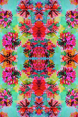 Youth Digital Art - Tropical Floral by Amy Sia