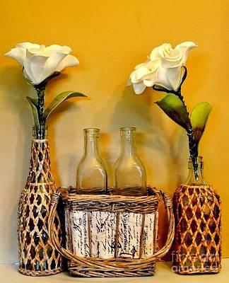 Tropical Flowers Art Print by Marsha Heiken