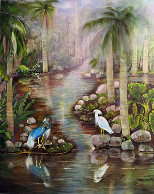 Painting - Tropical Fog by Arlen Avernian - Thorensen