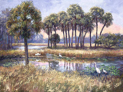 Wetlands Painting - Tropical Friends by Laurie Hein