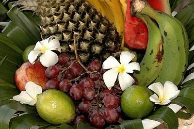 Tropical Fruit Basket Art Print by Cole Black