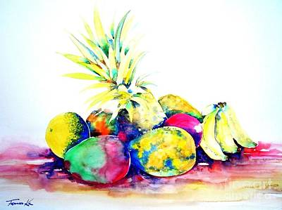 Painting - Tropical Fruit by Frances Ku