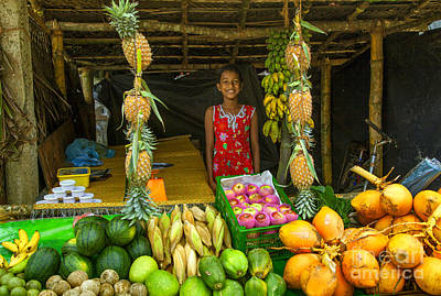 Banana Photograph - Tropical Fruit Shop by Regina Koch