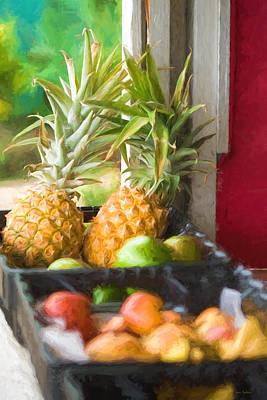 Tropical Fruitstand Art Print