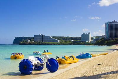Photograph - Tropical Fun At The Beach In Tumon Bay Guam by Beverly Claire Kaiya