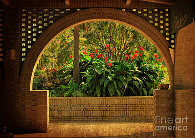 Photograph - Tropical Garden Arch by Kathy Baccari