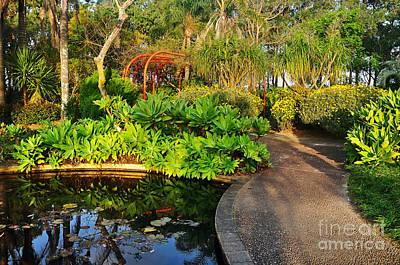 Tropical Gardens Art Print by Kaye Menner