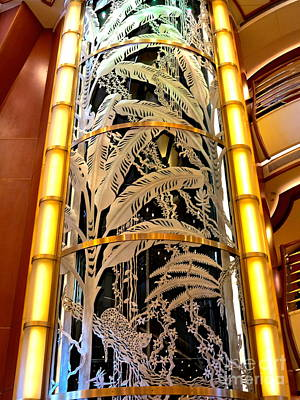 Photograph - Tropical Glass Elevator by Phyllis Kaltenbach