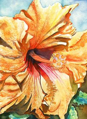 Tropical Hibiscus 3 Art Print