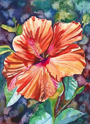 Hibiscus Wall Art - Painting - Tropical Hibiscus 5 by Marionette Taboniar