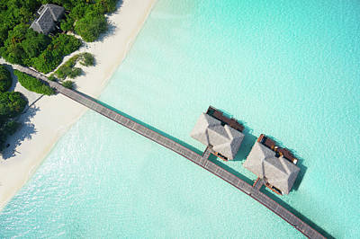 Flying Photograph - Tropical Hideaway From Above by Amriphoto