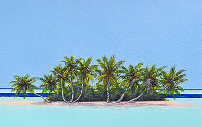 Painting - Tropical Island by David Clode