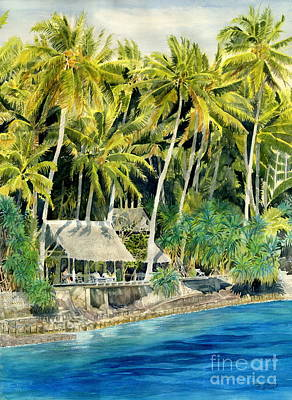 Painting - Tropical Island  by Melly Terpening