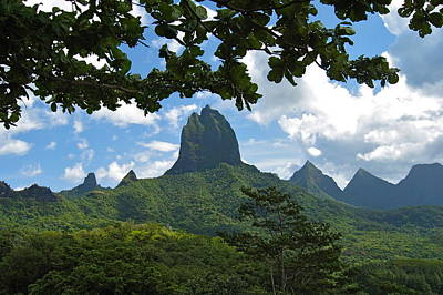 Photograph - Tropical Island Peaks by Denise Mazzocco
