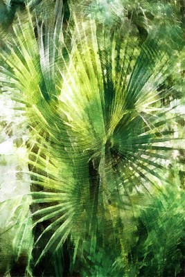 Digital Art - Tropical Jungle Grunge 2 by Francesa Miller