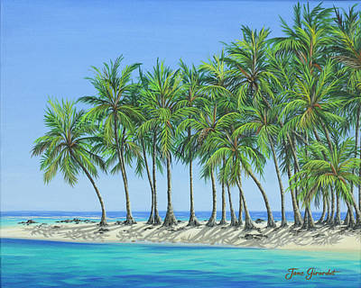 Painting - Tropical Lagoon by Jane Girardot