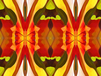Tropical Series Painting - Tropical Leaf Pattern 13 by Amy Vangsgard
