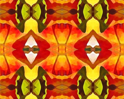 Tropical Series Painting - Tropical Leaf Pattern  14 by Amy Vangsgard