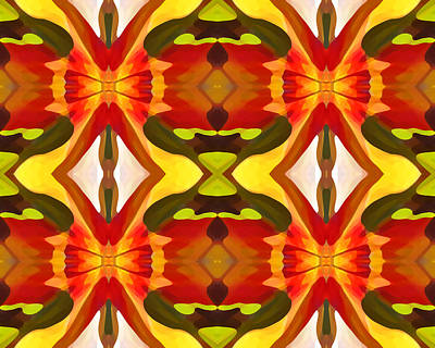 Tropical Series Painting - Tropical Leaf Pattern 15 by Amy Vangsgard
