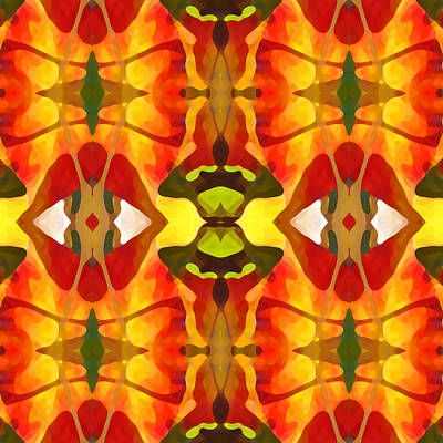 Tropical Series Painting - Tropical Leaf Pattern 4 by Amy Vangsgard