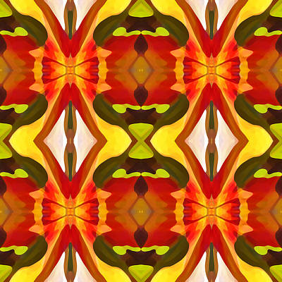 Tropical Series Painting - Tropical Leaf Pattern 6 by Amy Vangsgard