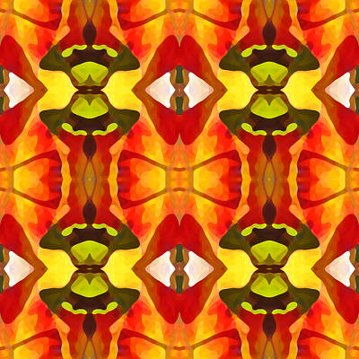 Tropical Series Painting - Tropical Leaf Pattern 7 by Amy Vangsgard