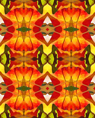 Tropical Series Painting - Tropical Leaf Pattern 8 by Amy Vangsgard