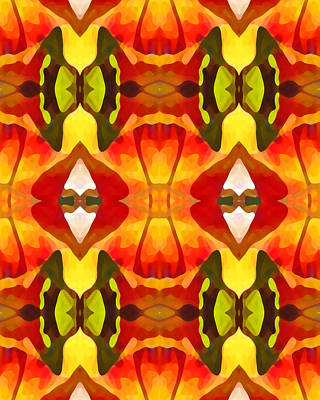 Tropical Series Painting - Tropical Leaf Pattern  9 by Amy Vangsgard