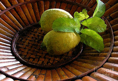 Tropical Lemons Art Print by James Temple